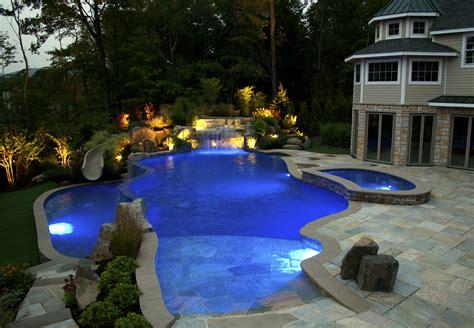 nj pool company debuts  pool features  luxury