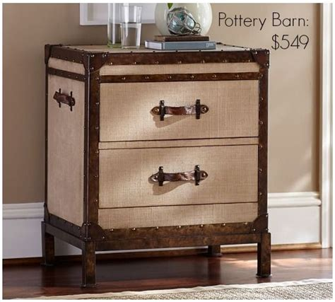pottery barn inspired furniture pottery barn inspired trunk bedside table themed