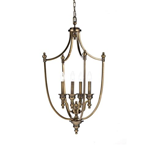 Lighting Pendant Lombard Lom0475 4 Light Pendant In Antique Brass