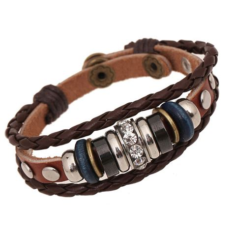 leather bands for jewelry ba193 wholesale vintage charm leather adjustable