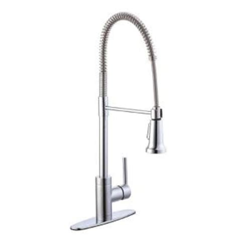 Glacier Bay Pull Down Kitchen Faucet by Glacier Bay 1200 Series Single Handle Pull Down Sprayer