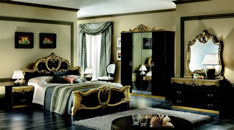 black bedroom furniture  gold trim video   madlonsbigbearcom