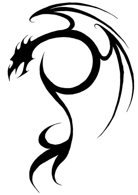easy tattoo of dragon 15 stunning simple tribal tattoos only tribal