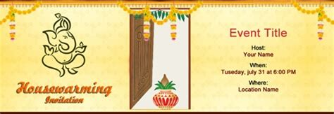 Invitation Card Template For Housewarming India by India House Warming Ideas Send Griga Pravesh