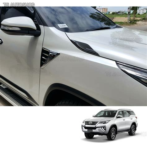 All New Fortuner Side Vent Luxury Chrome fitt chrome side vent garnish cover trims guards toyota fortuner 2016 2017 ebay