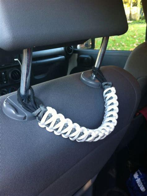 Diy Jeep Grab Handles Jeep Paracord Accessories Headrest Grab Handle Hacks