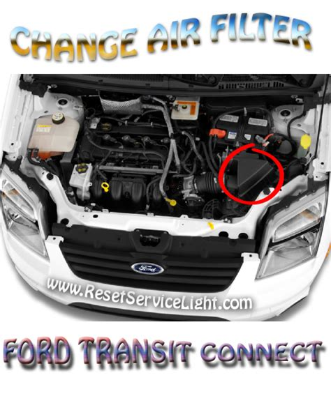 ford transit air filter change