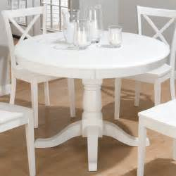 Ikea Pedestal Table Jofran Topsail Round Pedestal Dining Table White At
