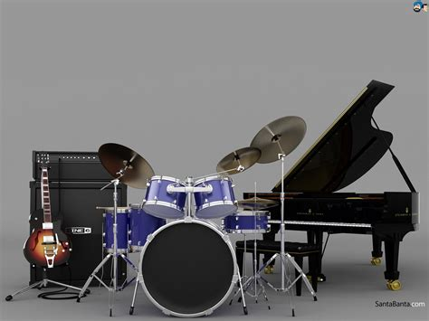Kaos 3d Umakuka Drum Set musical instruments wallpaper 108