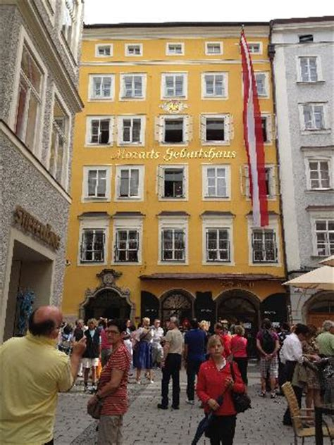 mozart music house mozart s birth house jammed with tourists picture of mozart s birthplace salzburg