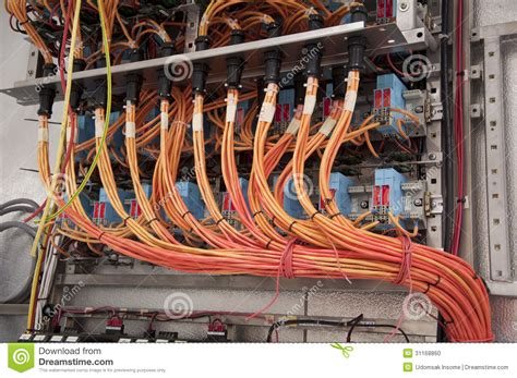 electrical wiring panel stock photo image 31168860