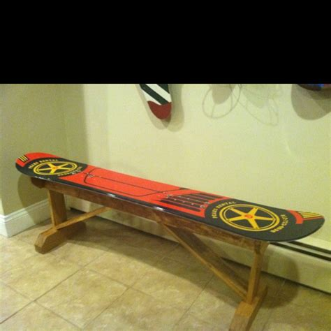 snowboard bench plans my husbands awesome snowboard bench he built for the
