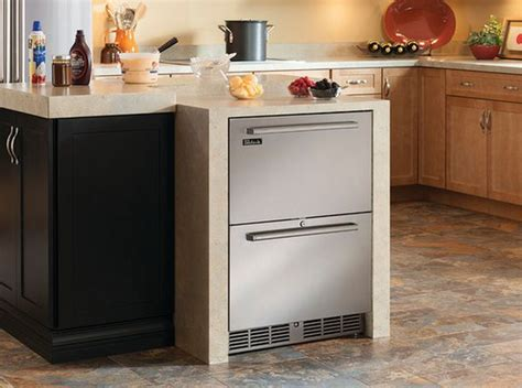 kitchen island with refrigerator undercounter refrigerators the new must in modern kitchens