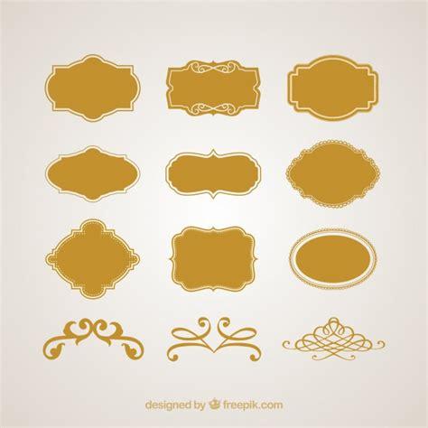 editar imagenes con vectores logotipos marcos vintage y signos conjunto de vectores