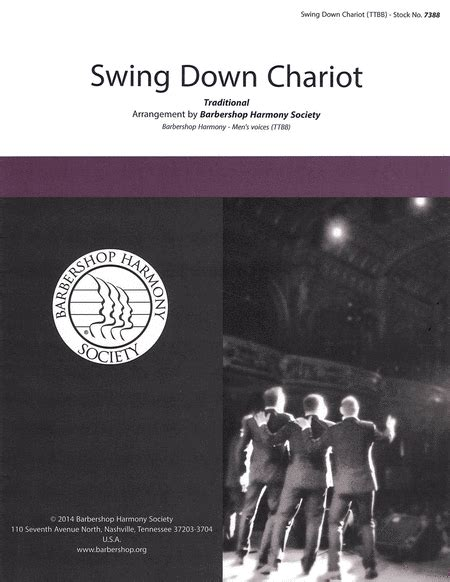 swing down chariot swing down chariot sheet music by the vagabonds sheet