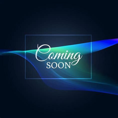 camin soon waves abstract background with quot coming soon quot text vector