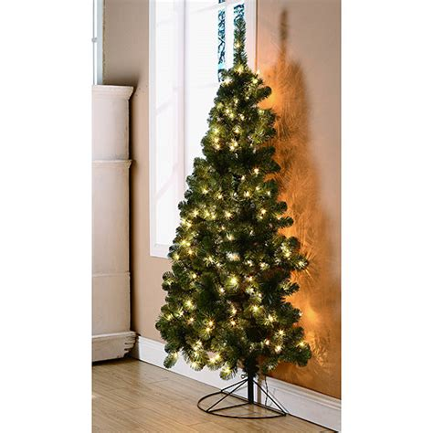 walmartcom t 38 artificial christmas trees 6ft 7ft pre lit 7 ft pine artificial tree clear lights trees 5 6 stand