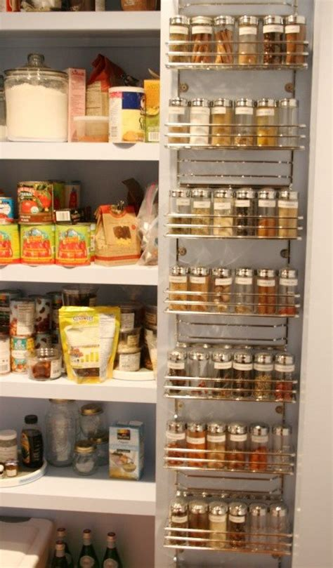 diy spice rack on pantry door pantry door spice organizer diy 20 clever kitchen