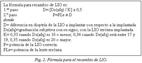 c225lculo de lente intraocular en casos complicados el