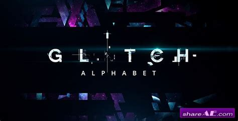Glitch Alphabet After Effects Templates Videohive 187 Free After Effects Templates After After Effects Templates Free Cc