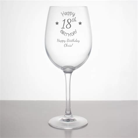 birthday wine personalised 18th birthday wine glass