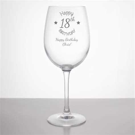 Alised Th Birthday Wine Gl