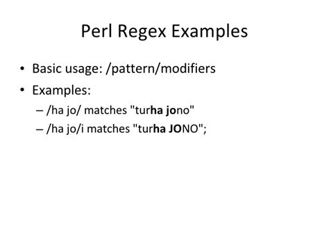pattern matching modifiers in perl php regular expressions