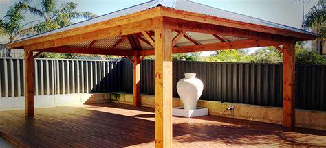 chunky posts  timber patios