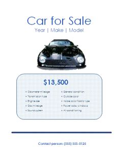 for sale ad template sle car sales flyer free word s templates