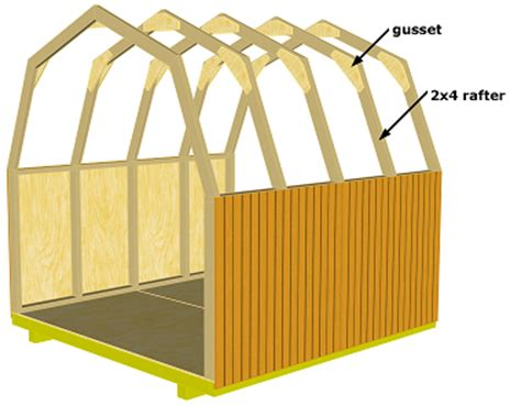 Best Way Gambrel Roof Shed Plans 12x20