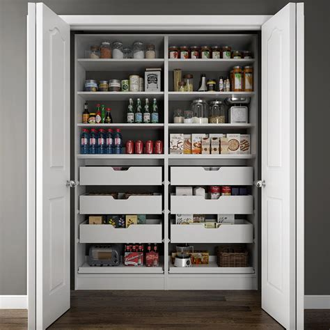 pantry organizer modifi 60 in w x 15 in d x 84 in h dual wood pantry