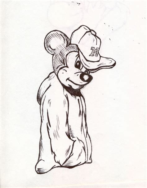 gangster mickey mouse coloring pages gangsta mickey by theonlyanubis on deviantart
