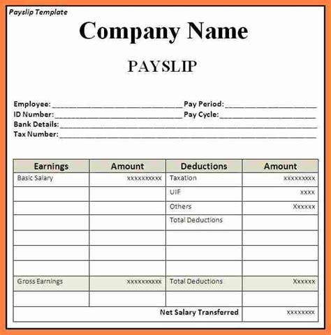 how to make a template in excel 6 how to make payslip in excel salary slip