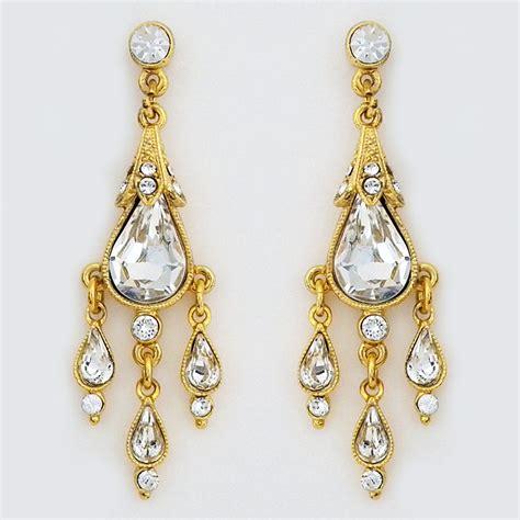 Small Chandelier Earrings Ben Amun Jewelry Gold Small Chandelier Earrings Bridal Black Tie