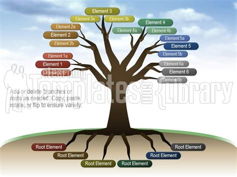 tree diagram template powerpoint tree tree diagrams graphic for powerpoint presentation templates