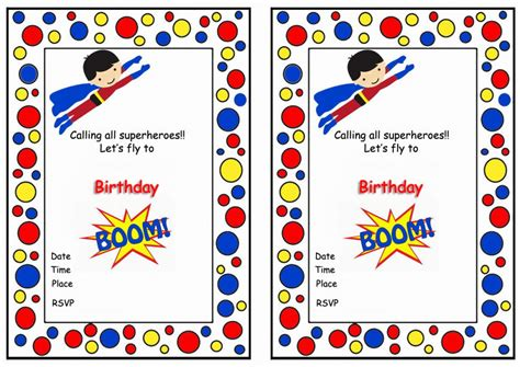 printable superman party decorations superman birthday invitations birthday printable