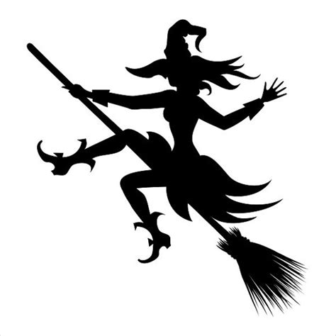 witch silhouette template 8 witch silhouette vectors free psd vector ai eps