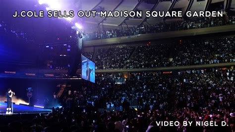 J Cole Square Garden Tickets by J Cole Sells Out Square Garden Gangsta Rap Talk