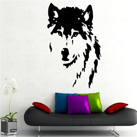 popular stickers graphics buy cheap stickers graphics lots wolf wall decal best howling wolf decal products on