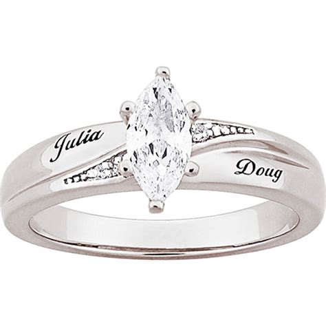 find personalized platinum plated marquise
