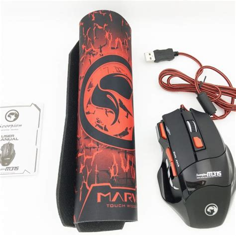 Mouse Gaming Mouse Gaming Mousepad Marvo M315 marvo gaming mouse mousepad m315 g1 offerbear