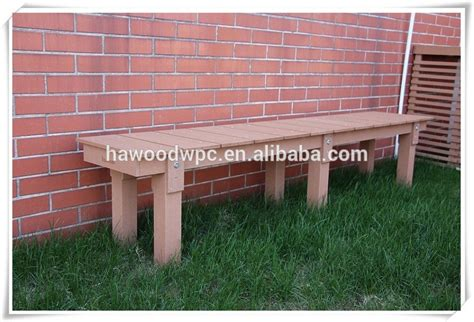 composite garden bench 1200mm length easily assembled wpc wood plastic composite