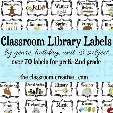 Ideas For Building A Classroom Library On A Budget Bin Labels Template