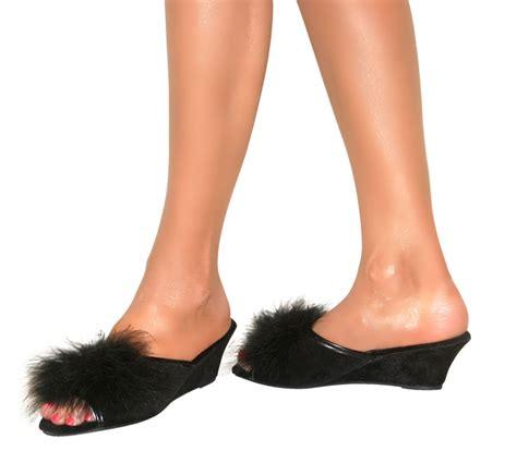wedge slippers womens womens dunlop slip on mule wedge heel suede peep toe