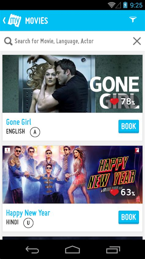bookmyshow fun cinemas bookmyshow movie tickets plays android apps on google play