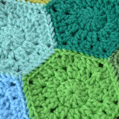pattern crochet hexagon crochet in color hexagon pattern