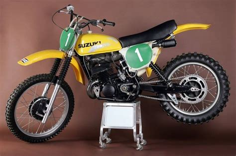 works motocross 1976 77 suzuki rh 250 works bike dirt bikes vintage
