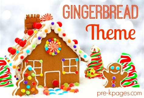 christmas themes for pre k gingerbread man theme activities for preschool