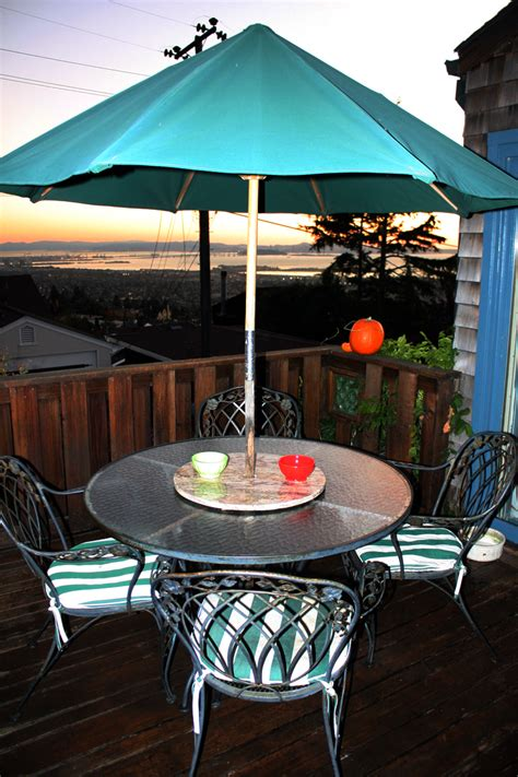 Lazy Susan With Umbrella Hole Pictures to Pin on Pinterest