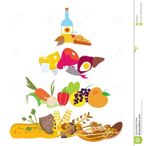 food diagram food pyramid healthy nutrition diagram stock